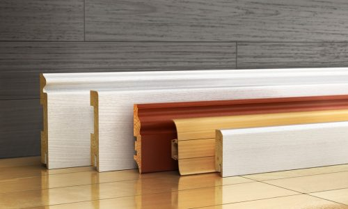Wood finish PVC skirtings